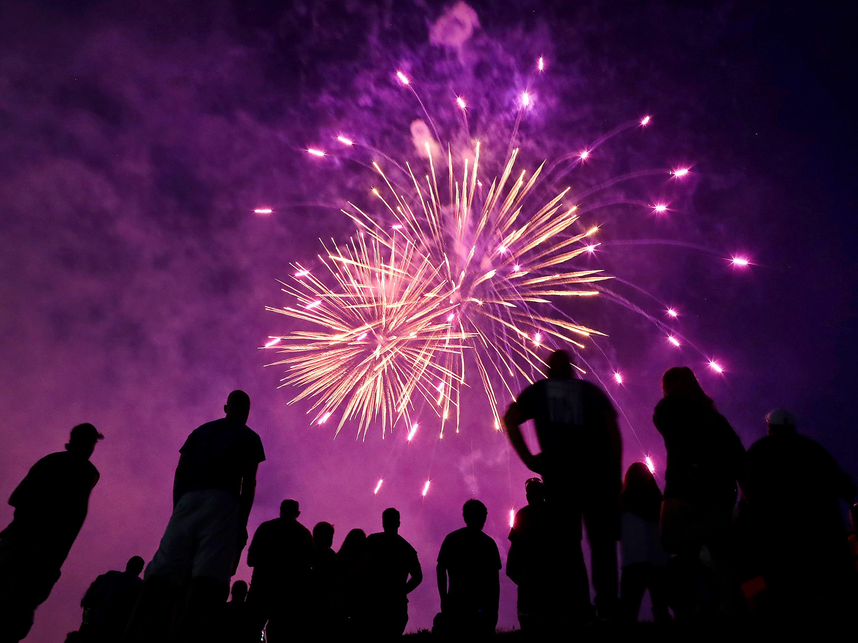 The annual Festival Foods Fireworks on Tuesday, July 3, 2018 at Memorial Park in Appleton, Wis.