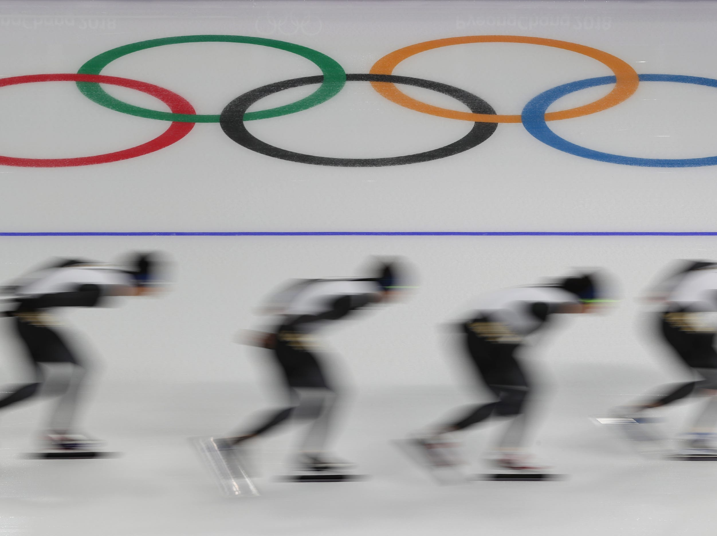 Feb 18, 2018; Pyeongchang, South Korea; during the Pyeongchang 2018 Olympic Winter Games at Gangneung Ice Arena. Mandatory Credit: Dan Powers-USA TODAY Sports