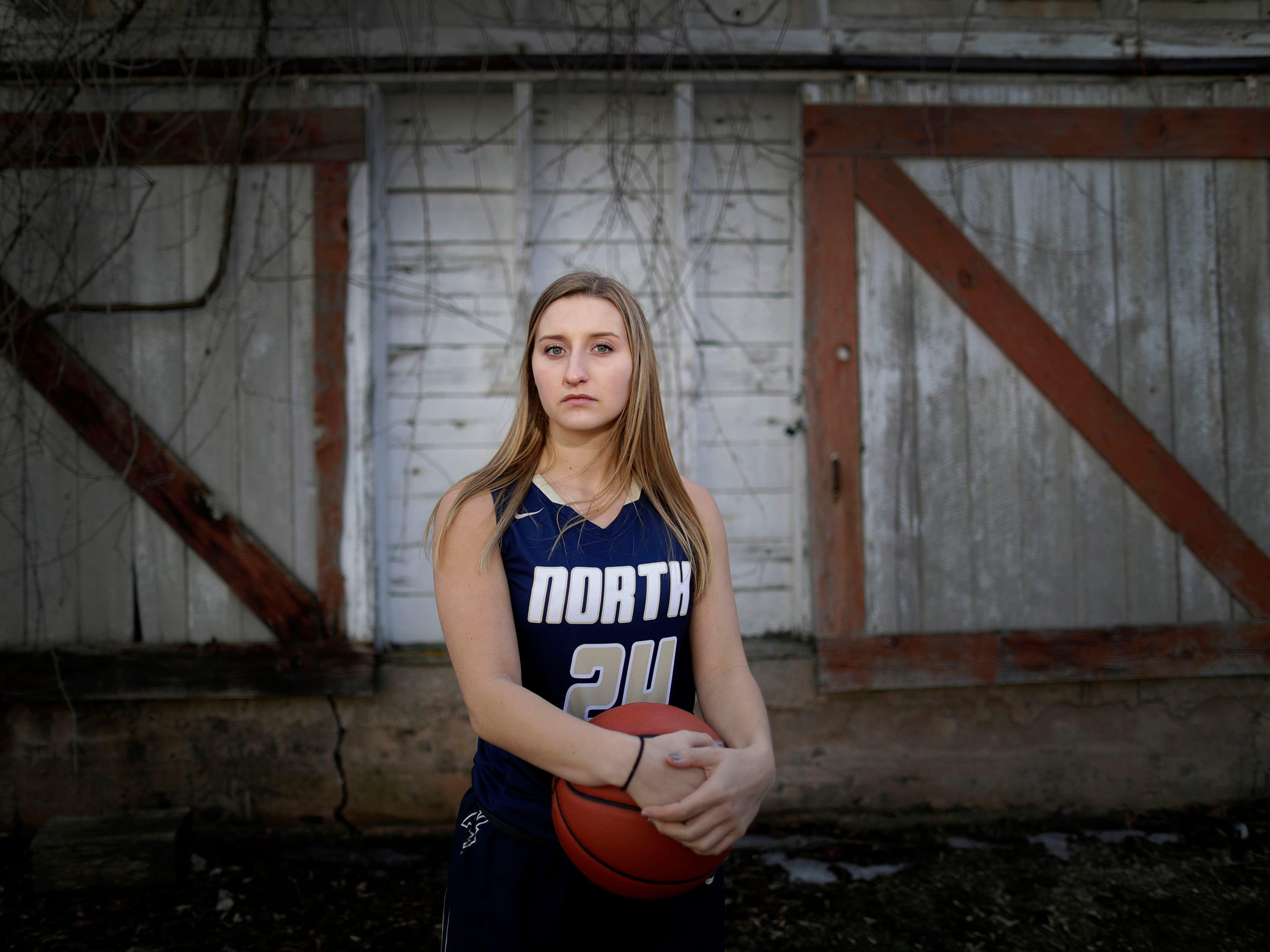 Appleton North High School's Sydney Levi is The Post-Crescent girls basketball player of the year…Thursday, March 29, 2018, in Hortonville, Wis. 