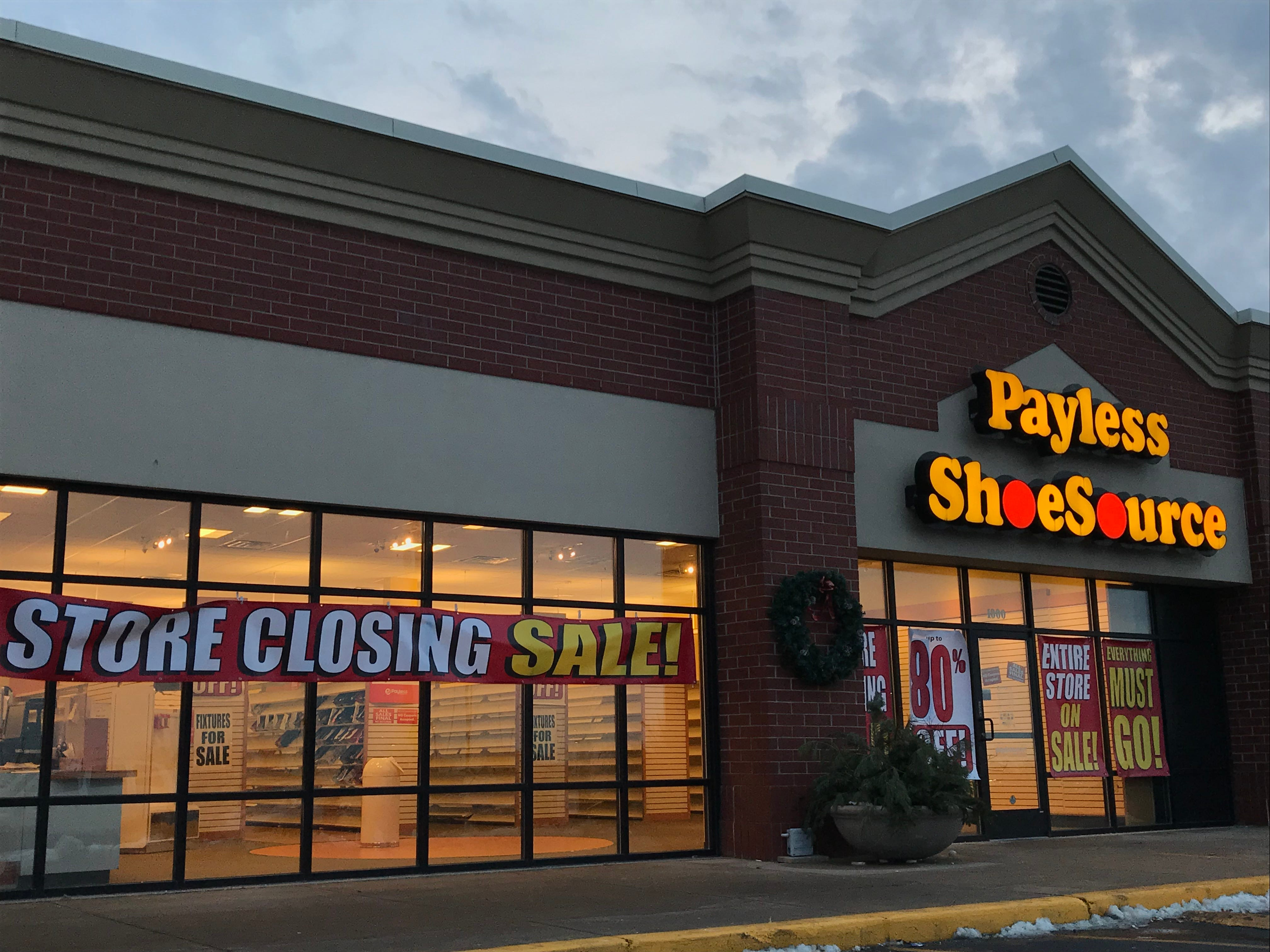Payless ShoeSource stores closing