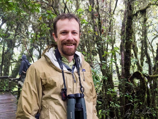 Master birder Jay Packer in his natural environment.