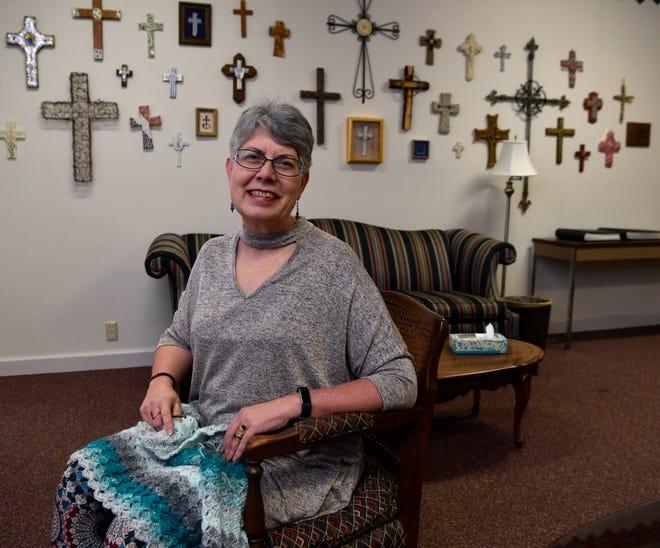 Teresa Weicht in the parlor at Grace Lutheran Church Thursday Dec. 20, 2018.
