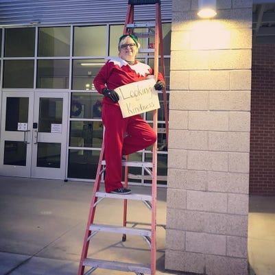 Elf On The Ladder