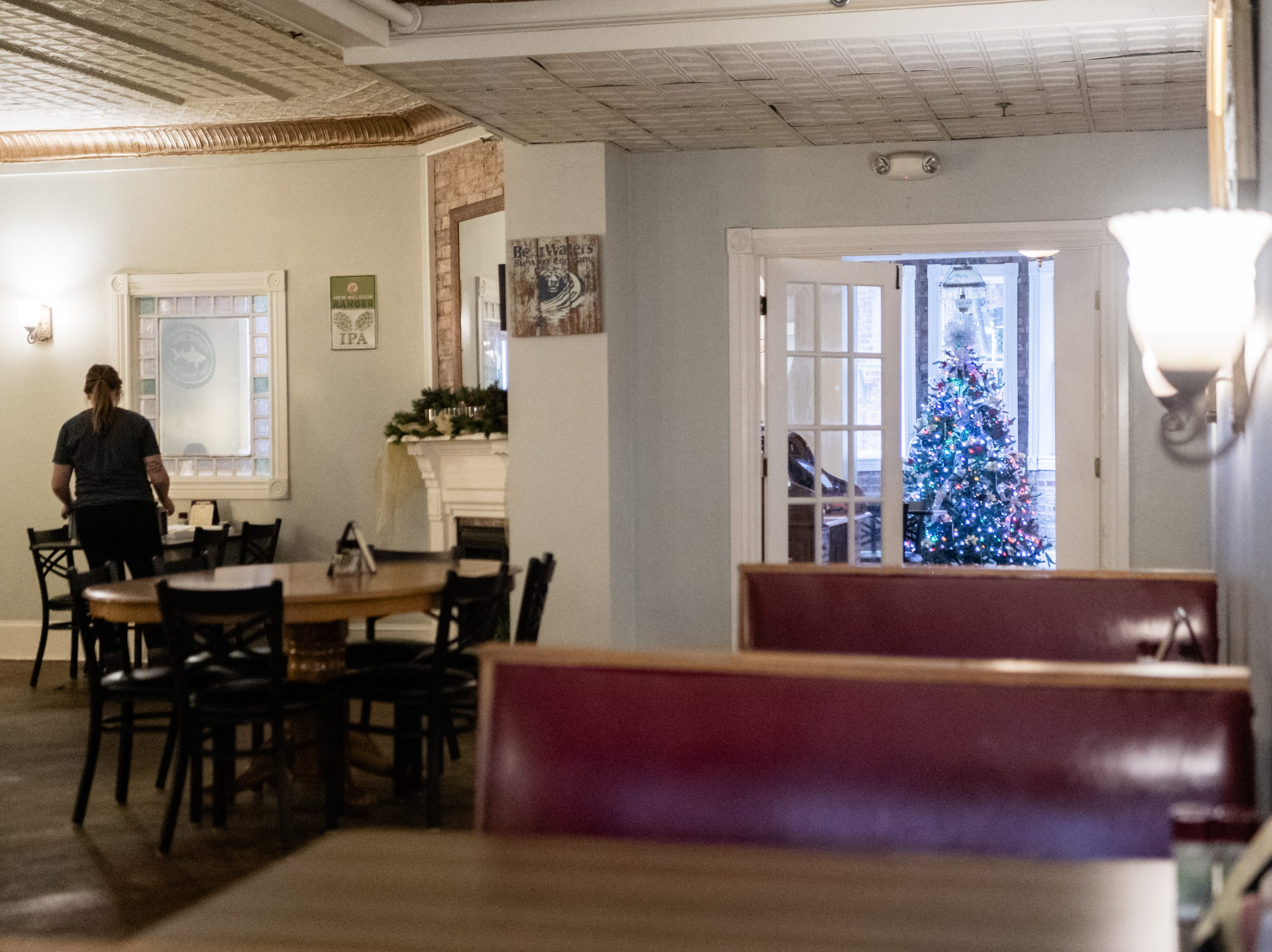 Southern Porch restaurant located at the historic Imperial Hotel in Canton.