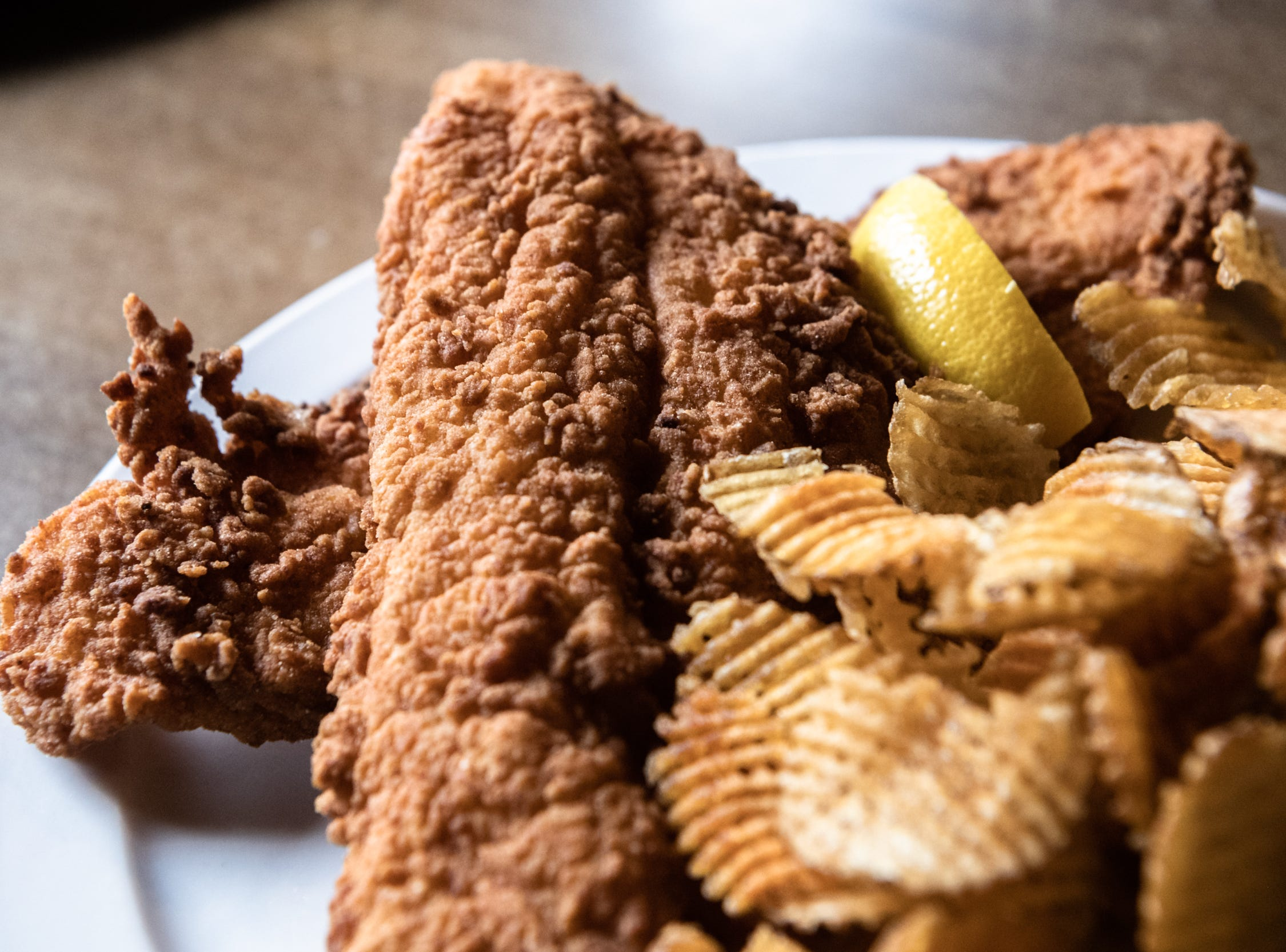 Khairee's fish and woodchips offered at Southern Porch restaurant in Canton.