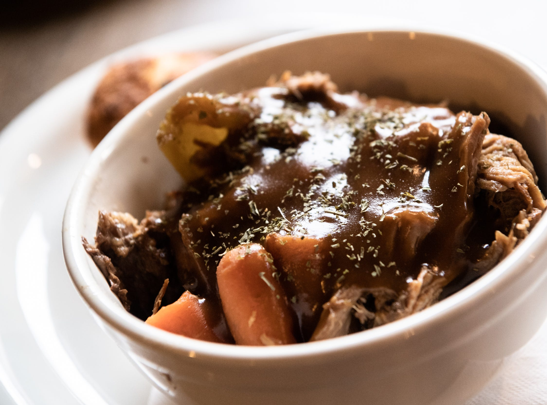 The pot roast offered at Southern Porch restaurant in Canton.