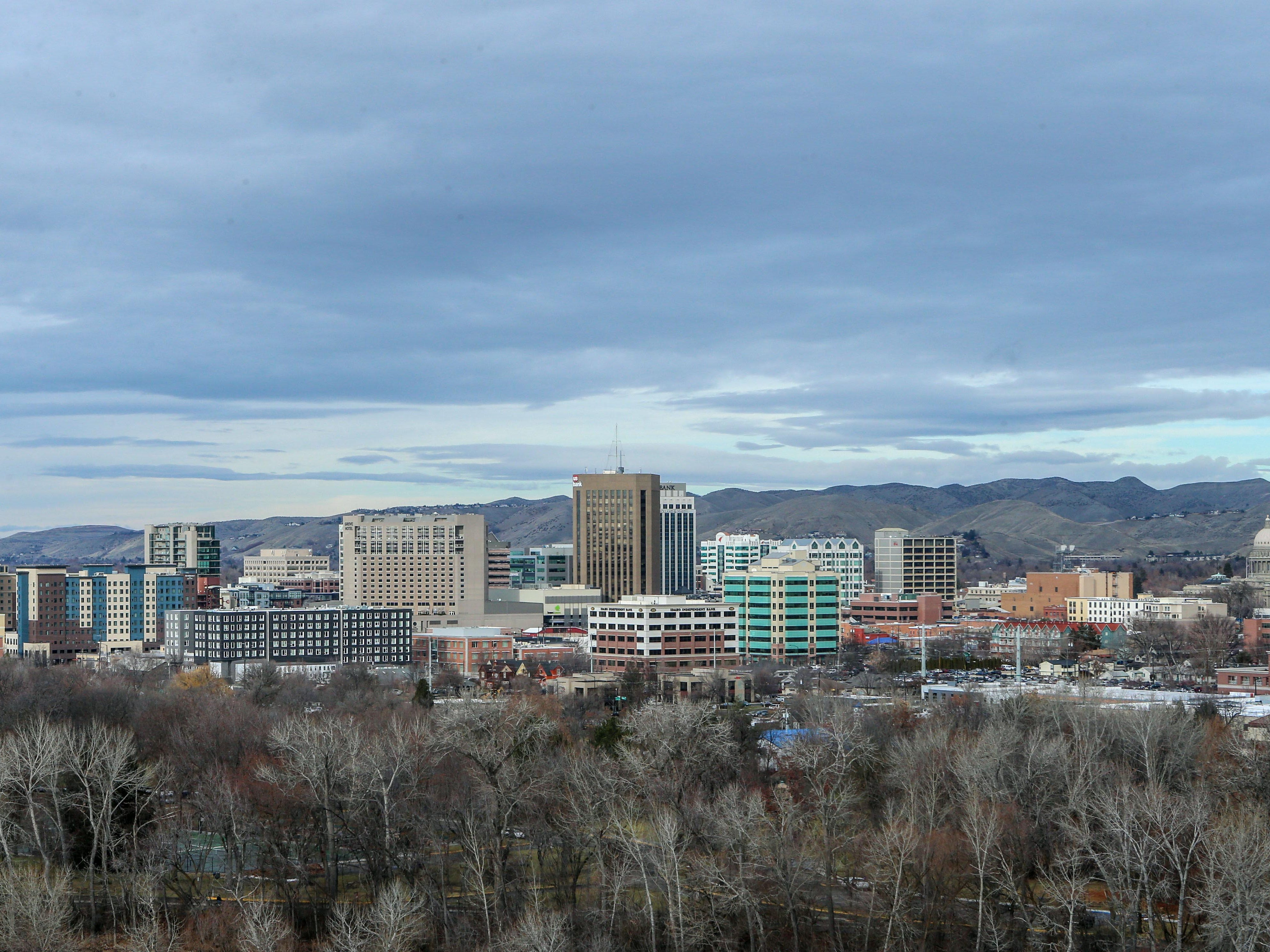 Dec 21, 2018; Boise, ID, United States; A general view of downtown Boise, Idaho  prior to the start of the 2018 Idaho Potato Bowl between BYU and Western Michigan.