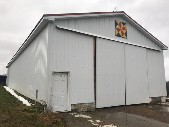 A multi-purpose building on the site where a dairy barn stood at Aukema Dairy Farm before it burned down in October of 2017. The new building is being used to store hay, equipment and other goods.