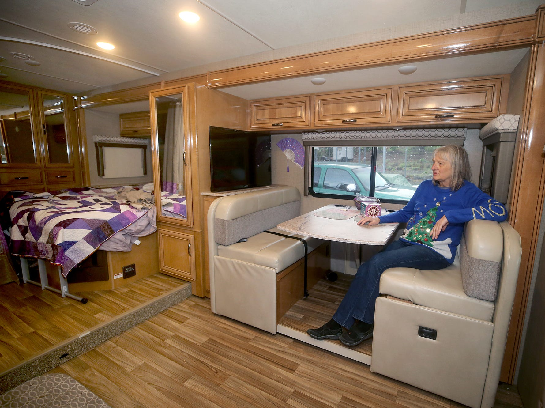 "After Barb Peterson's husband died last Christmas, she decided she had to take a chance on a great adventure: a cross-country trip in their RV. She attended weddings, visited tourist traps and even connected in person for the first time with the son she gave away for adoption when she was a teenager. ""What I came back with was a renewed faith in the friendliness and helpfulness of the people of this country,"" she says."