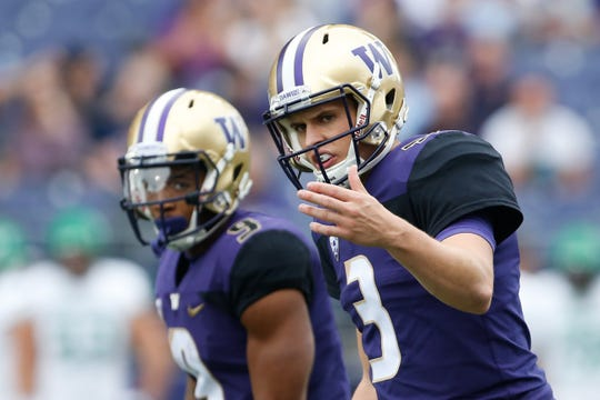 Myles Gaskin has played in 52 games in his Washington career, while Jake Browning has played in  53.
