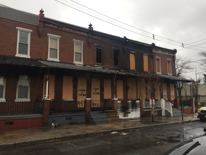 Four homes on the 900 block of Cedar Street in North Camden sustained heavy damage from a fire early Thursday morning.