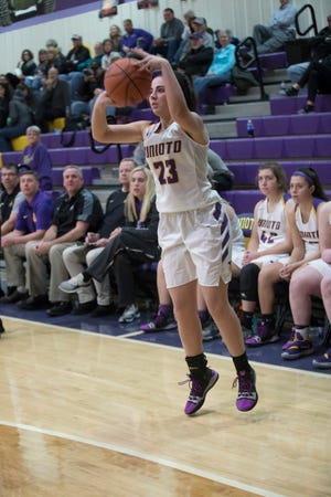 Unioto girls basketball's Alexis Miller made three three-pointers in a win over Piketon on Thursday, helping keep Unioto undefeated in SVC play.
