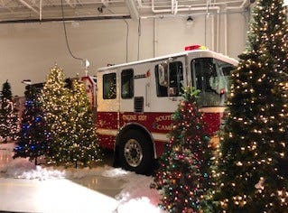 The fire station at Southern Campbell Fire Department was decked out for the holidays at Breakfast with Santa and His Firemen on Dec. 1, 2018