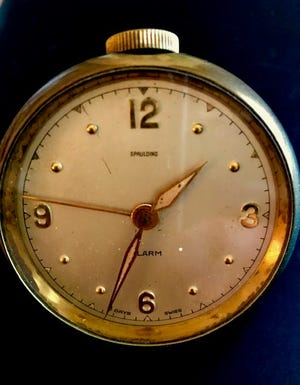 Pictured is Paul Daugherty's grandfather's watch, which is almost 100 years old.