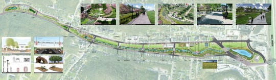 When the Lick Run Greenway Project is completed in 2020, Queen City Avenue will have a stream and recreation space in the middle of the roadway.