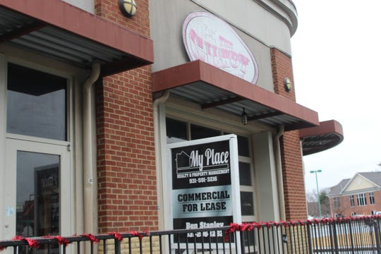 """A """"commercial for lease"""" sign now sits outside The Gilroy on University Ave."""