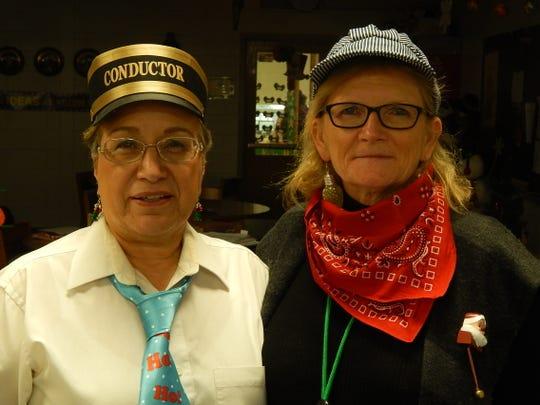Roseann Caldwell and Mary Christensen, kindergarten teachers