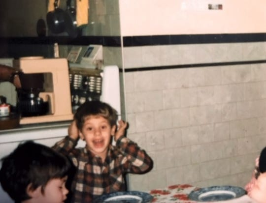 John Bertram, who was murdered in Edison on Dec. 20 at the age of 38, as a child during Thanksgiving in 1984.