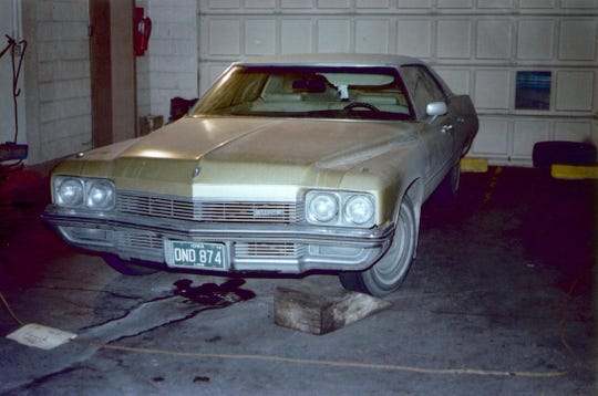Michelle Martinko's car is seen in an undated photo. She was found dead inside the vehicle Dec. 20, 1979.