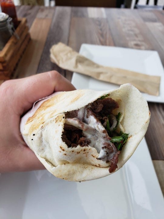 The beef shawarma from Kanun Grill, a new fast-casual Middleastern restaurant in Dearborn Heights.