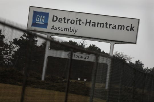 General Motors Detroit-Hamtramck Assembly Plant on Thursday, Dec.20, 2018.