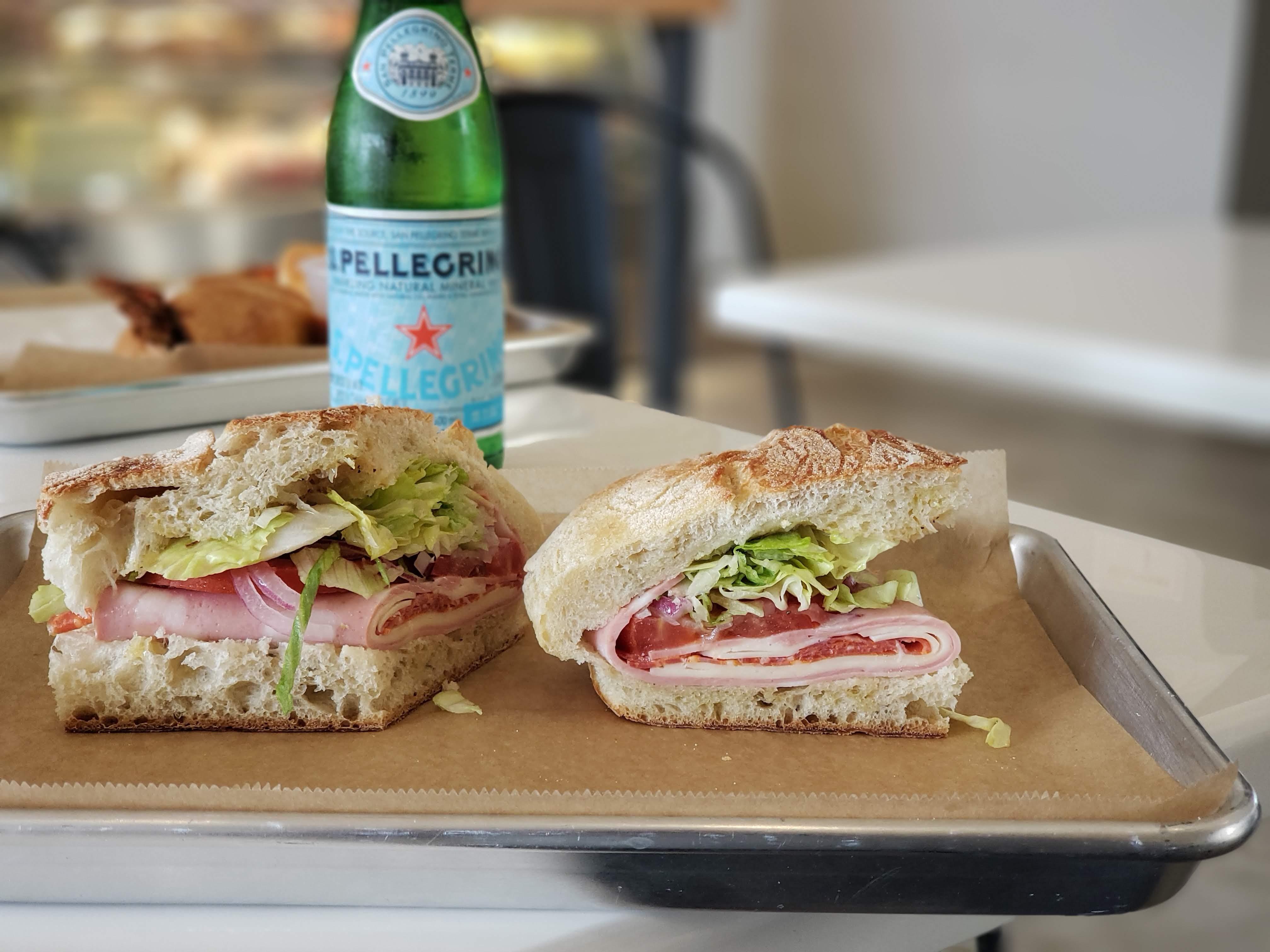 The Corner Deli sandwich from Rocco's Italian Deli in Midtown.