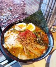 Spicy tori ramen with chicken from the new Madison Heights location of Ima, a popular Japanese-inspired noodle shop.