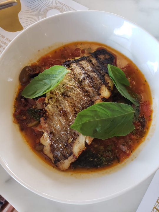 Acqua pazza (Florida red snapper in spicy broth) from SheWolf in Midtown.