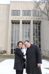 Nikki and Reid Stromberg on the day they adopted their son, David, at the courthouse in Port Huron.  He arrived in their foster home in April 2015 and was adopted in January 2016.