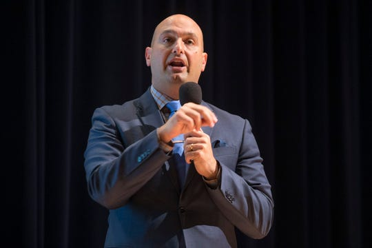 Nikolai Vitti, Superintendent, Detroit Public Schools Community District, at East English Village Preparatory Academy in Detroit in September 2018.