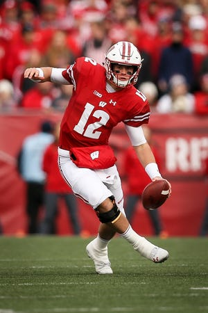 Alex Hornibrook will miss Wisconsin's Pinstripe Bowl game with Miami due to recurrence of concussion symptoms.