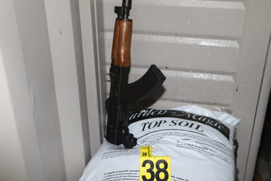 The AK-47 that was discovered.