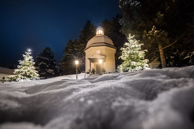 """The original church in Oberndorf, Austria, where """"Silent Night"""" was first performed was razed in the early 20th century, but this memorial chapel was built on the same spot in the 1930s and has become the site of the annual singalong."""