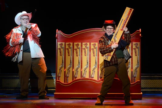Chris Carsten As Jean Shepherd And Colton Maurer As Ralphie In A Christmas Story