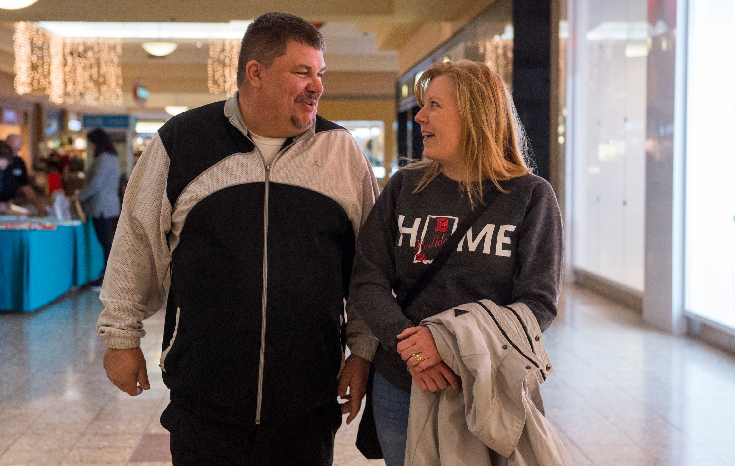 Bosse Head Coach Shane Burkhart and his wife Stacy Christmas shop at Eastland Mall Wednesday, Dec. 19, 2018.