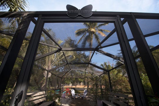 The Mohr Family Butterfly House is located next to the Lake Kennedy Center in Cape Coral.