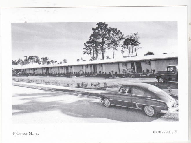 This nondescript, possibly first postcard image of the Nautilus Motel must date to 1959, when the motel was built.