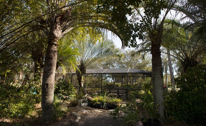 A view of the Mohr Family Butterfly House and small garden located next to the Lake Kennedy Center in Cape Coral.