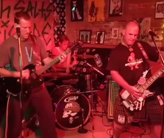 "The Great Falls band ""Bath Salts Brigade"" includes PJ Shuart on bass, Jonny Smith on drums and Scott Barley on guitar."