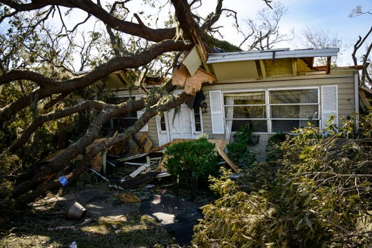 Hurricane Michael caused widespread damage in October in this historic neighborhood in Panama City, Fla. Red Cross volunteer Alice Klundt of Great Falls responded to the disaster.
