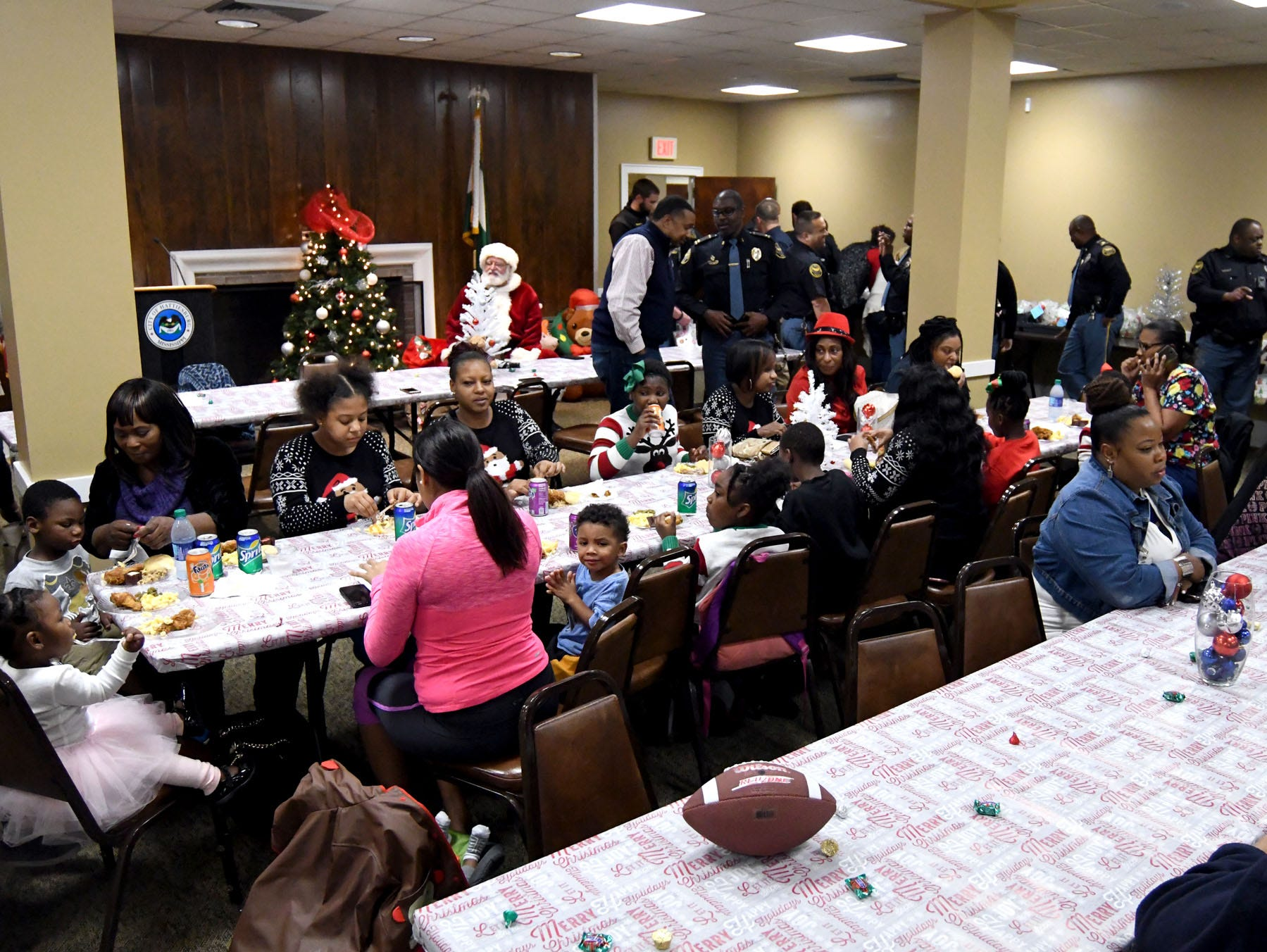 The Hattiesburg Police Department host their Victim Service UnitÕs Hearts of Hope Christmas party for victims affected by violent crimes at Jackie Sherrill Community Center on Thursday, December 20, 2018.