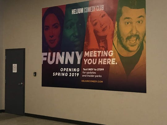 This graphic marks the spot of the Helium Comedy Club coming to Circle Centre mall.