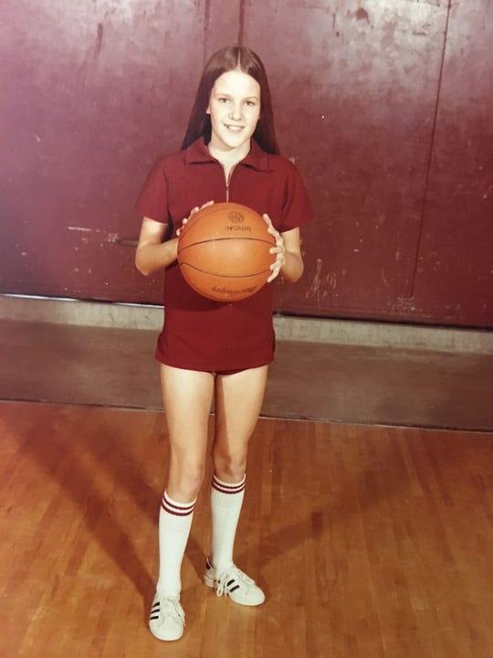 Kelly Krauskopf's seventh grade basketball photo in Corpus Christi, Texas.