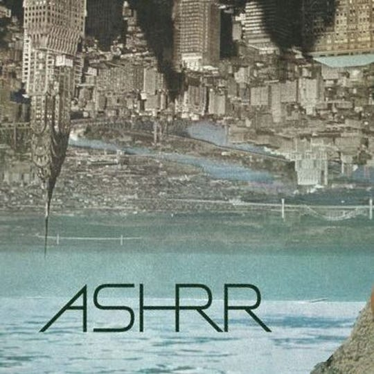 Detail from the cover of Ashrr's self-titled release