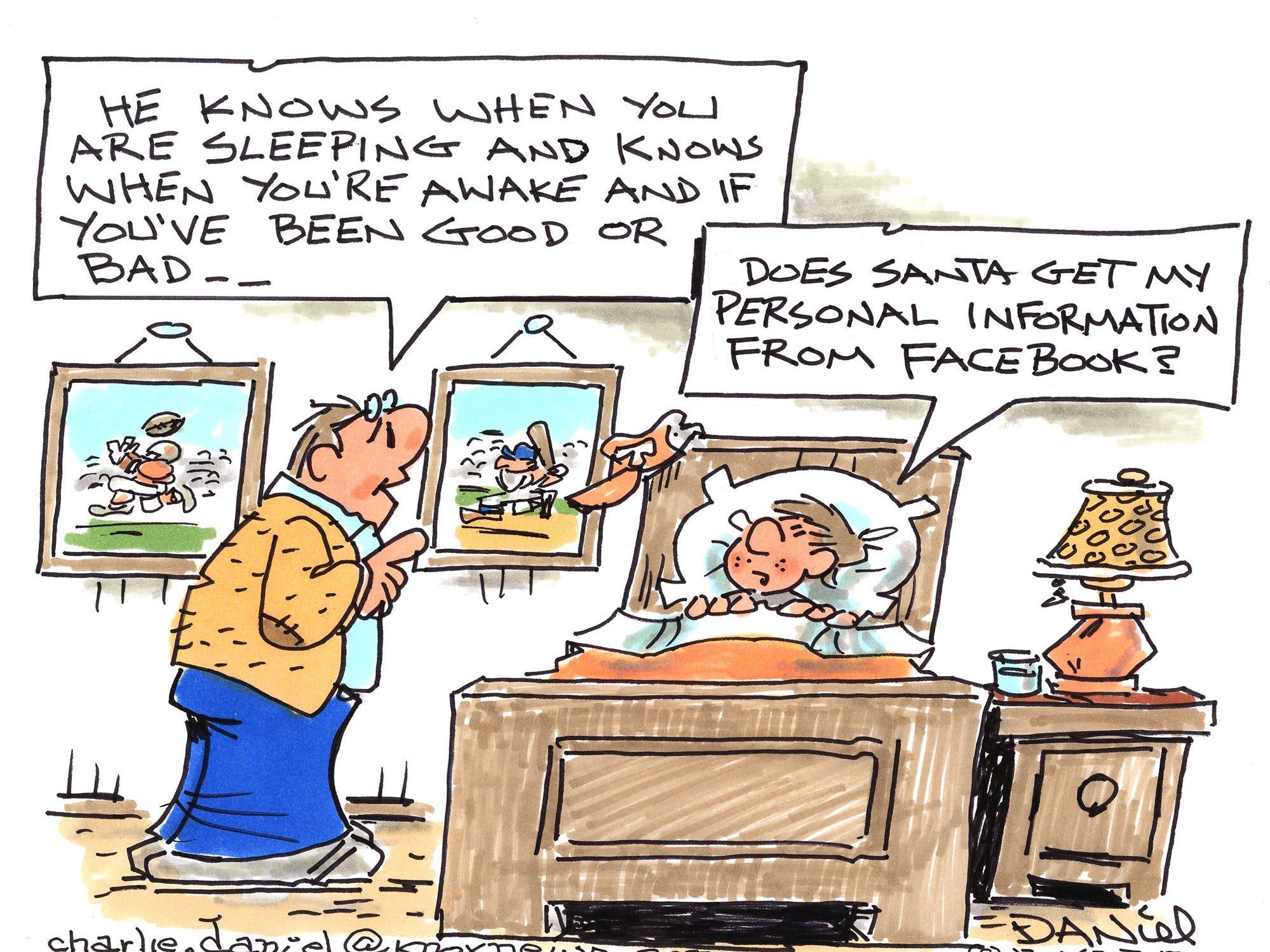 Charlie Daniel editorial cartoon for Dec. 24, 2018.