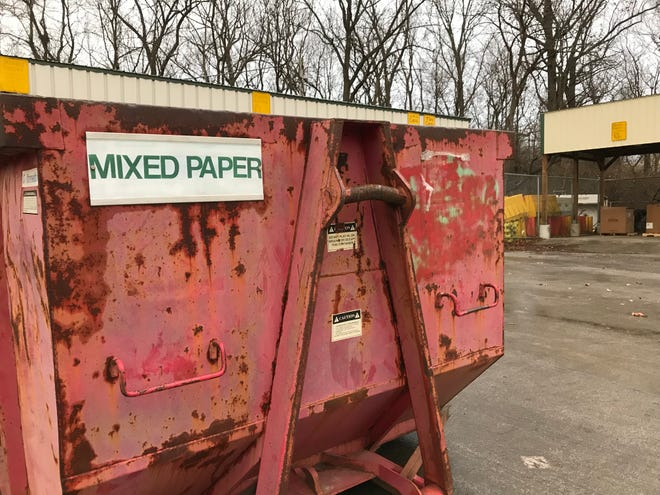 Bins at West Lafayette's 24-hour drop-off recycling center, 705 South River Road, will move in early 2019, as the city converts the site for storage for its vehicles. Tippecanoe County, which contracts with the city to operate the site, is looking for a new home for a drop-off recycling center.