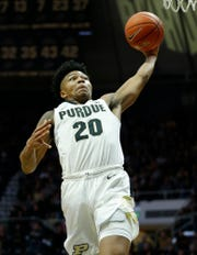 Nojel Eastern of Purdue glides to the basket for a dunk in the first half after stealing the ball from Jason Preston of Ohio Thursday, December 20, 2018, at Mackey Arena. Purdue defeated Ohio 95-67.