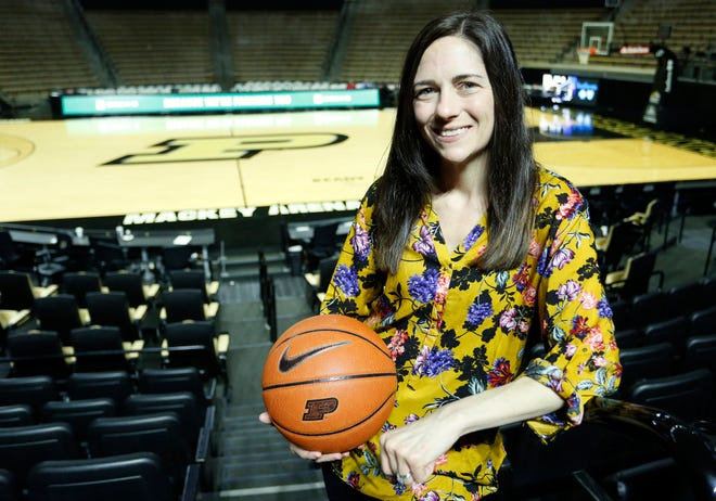 Carly Day, Purdue head team physician, Friday, December 21, 2018, inside Mackey Arena.