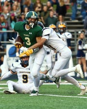 Howell's Shane Sovik (3) had his football season end with a lacerated spleen, but helped the team any way he could after the injury.