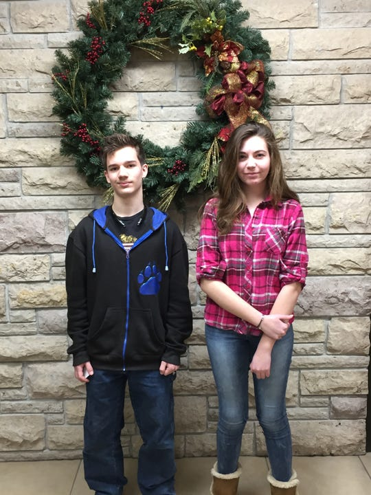 Reedsville High School announced its Students of the Month for December were Kenneth Curtis (left) and Tori Kiley.